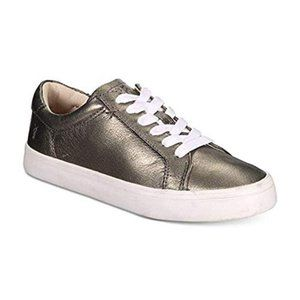 FRYE Kerry Low Lace‑Up Fashion Sneakers Pewter, US